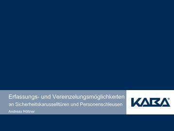 Erfassungs- und Vereinzelungen - Security-Forum