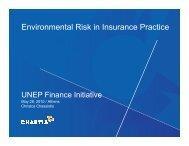 Environmental Risk in Insurance Practice