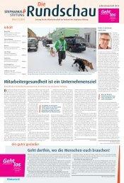 Rundschau 1/2013 - Stephanus-Stiftung