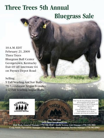 Three Trees 5th Annual Bluegrass Sale - Angus Journal