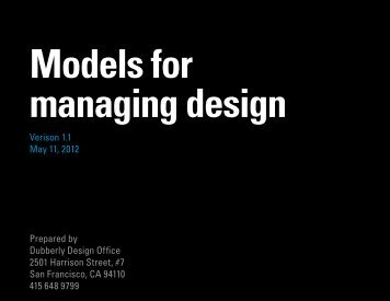 Models for managing design - Dubberly Design Office