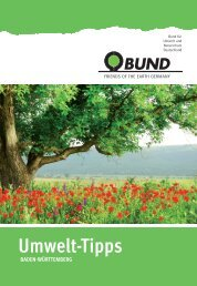 BUND Umwelt-Tipps Karlsruhe/Pforzheim/Calw/Freudenstadt/Böblingen 2014