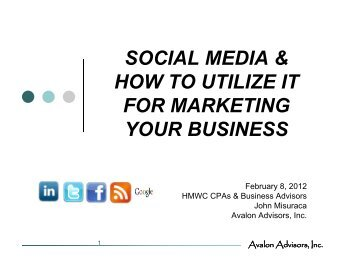 Social Media & How to Use it for Marketing Your Business