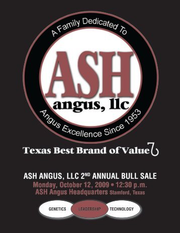 ASH ANGUS, LLC 2ND ANNUAL BULL SALE - Angus Journal