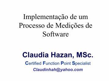Implementação de um Processo de Medições de Software Claudia ...