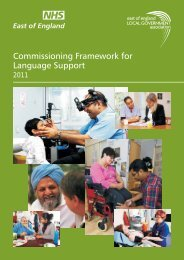 Commissioning Framework for Language Support - Partnership ...