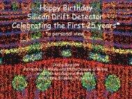 Happy Birthday Silicon Drift Detector: Celebrating the ... - MPG HLL