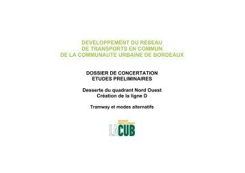 developpement du reseau de transports en commun de la ...