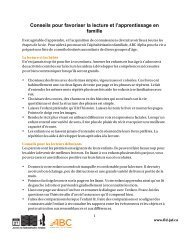 Conseils pour favoriser la lecture et l'apprentissage en famille
