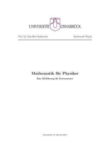 Mathematik für Physiker - Numerische Physik: Modellierung