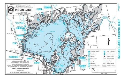 map of indian lake ohio Indian Lake Fishing Map Ohio Department Of Natural Resources map of indian lake ohio