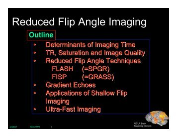 Reduced Flip Angle Imaging - Brainmapping.ORG