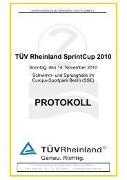 TÜV Rheinland SprintCup 2010 - Homepage des Berliner TSC e. V.