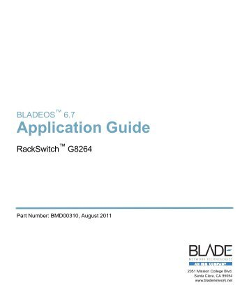 Application Guide - BLADE Network Technologies