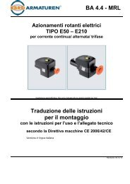 E210 per corrente continua/ alternata - Ebro Armaturen