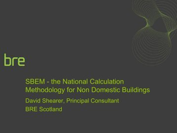 SBEM update - Scottish Energy Systems Group