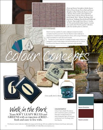 Colour Concepts of soft leafy blues and greens for autumn - Resene