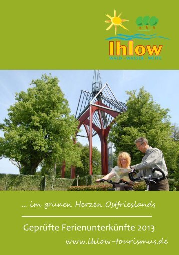 Gastgeberverzeichnis für 2013 - Ihlow Tourismus