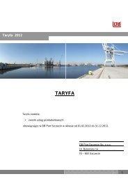 Taryfa DB Port Szczecin 2012 - DB Schenker Rail Polska