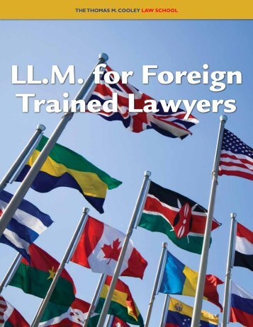 LL.M. U.S. Legal Studies Program Guide (pdf) - Thomas M. Cooley ...