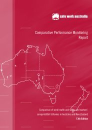 Comparative Performance Monitoring Report - Safe Work Australia