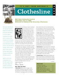 M&T Bank Clothesline Festival September 12 & 13, 2009 Memorial ...