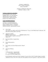 School Committee minutes 4-27-09.pdf - Town of Hull