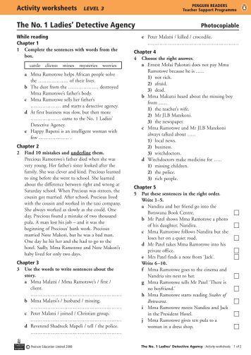An Ideal Husband - Activity worksheets - Penguin Readers