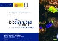 Papel de la biodiversidad marina en el funcionamiento de la biosfera