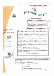 Nieuwsbrief februari 2013 - St. Mattheusschool