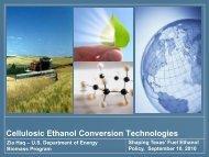 Cellulosic Ethanol Conversion Technologies - Texas Renewable ...