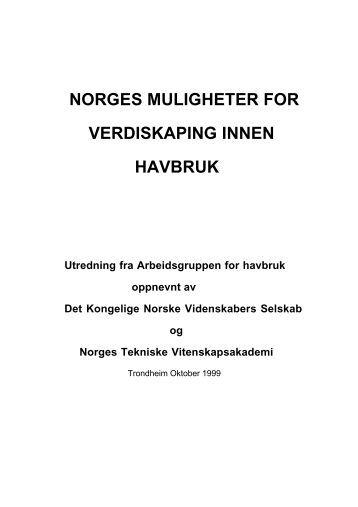 norges muligheter for verdiskaping innen havbruk - Sintef