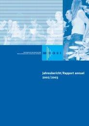 Jahresbericht/Rapport annuel 2002/2003 - BFB Biel