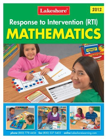 Response to Intervention Mathematics - Lakeshore Learning Materials