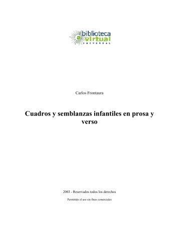 Cuadros y semblanzas infantiles en prosa y verso - Biblioteca ...