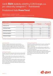 Říjen 2012 – Ceník dodávky elektřiny - E.ON