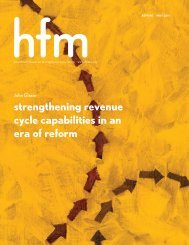 strengthening revenue cycle capabilities in an era of reform