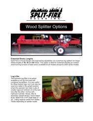 Options for wood splitter - JS Woodhouse