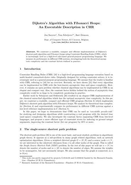 Dijkstra's Algorithm with Fibonacci Heaps: An Executable