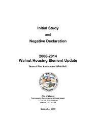 Revised Initial Study/Negative Declaration - City of Walnut