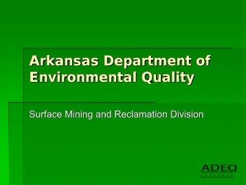 Arkansas Department of Environmental Quality