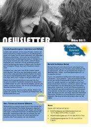Newsletter März 2013 - Verein Postnatale Depression Schweiz