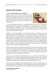 Reisebericht Zanzibar - CAAA