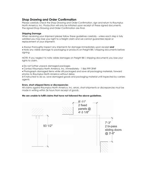 Shop Drawing And Order Confirmation - Barn Door Hardware