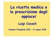La ricetta medica e la prescrizione di oppiacei ... - Sardegna Salute