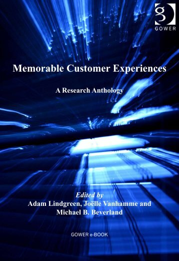 Memorable Customer Experiences - Peef's Digital Library