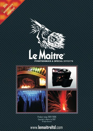 Le Maitre catalogue - Smoke Machines