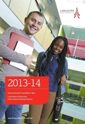 Lancaster prospectus 2013 - Study Group