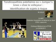 Tendinopathies patellaires ou « Jumper's knee ... - Extranet FFVB