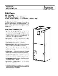 B5BX Series Air Handler - Nordyne